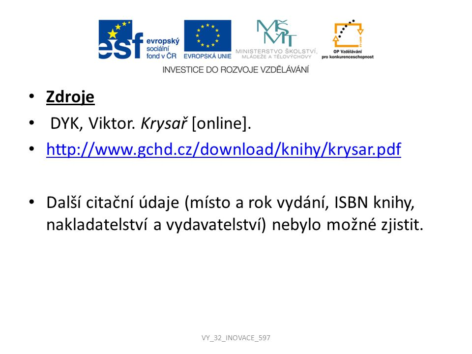 DYK, Viktor. Krysař [online].